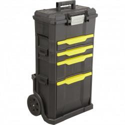 Servante de chantier + boîte à outils STANLEY plastique, 4 tiroirs 50 cm de marque STANLEY, référence: B6104600