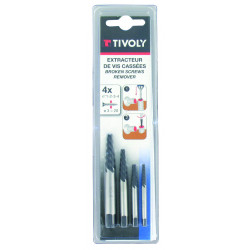 Set d'extracteurs de goujons TIVOLY 11111021234, Diam.2.2 à 4.7 mm de marque TIVOLY, référence: B6105500