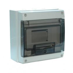 Tableau électrique étanche nu DEBFLEX 1 rangée 8 modules de marque DEBFLEX, référence: B6115900