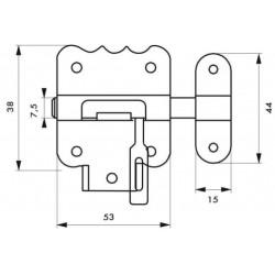 Targette à pêne rond THIRARD, acier zingué bronze de marque THIRARD , référence: B6118900
