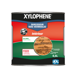 Traitement du bois meuble XYLOPHENE Vermoulus 25 ans, 0.5 l de marque XYLOPHENE, référence: B6137000