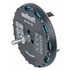 Trépan AH réglable  queue 3 pans, Diam.40 - 130 mm WOLFCRAFT de marque WOLFCRAFT, référence: B6138600