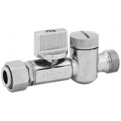 Vanne d'arrêt avec filtre, mâle / femelle 12 x 17 mm 12 x 17 mm de marque QUICK PLOMBERIE, référence: B6149200