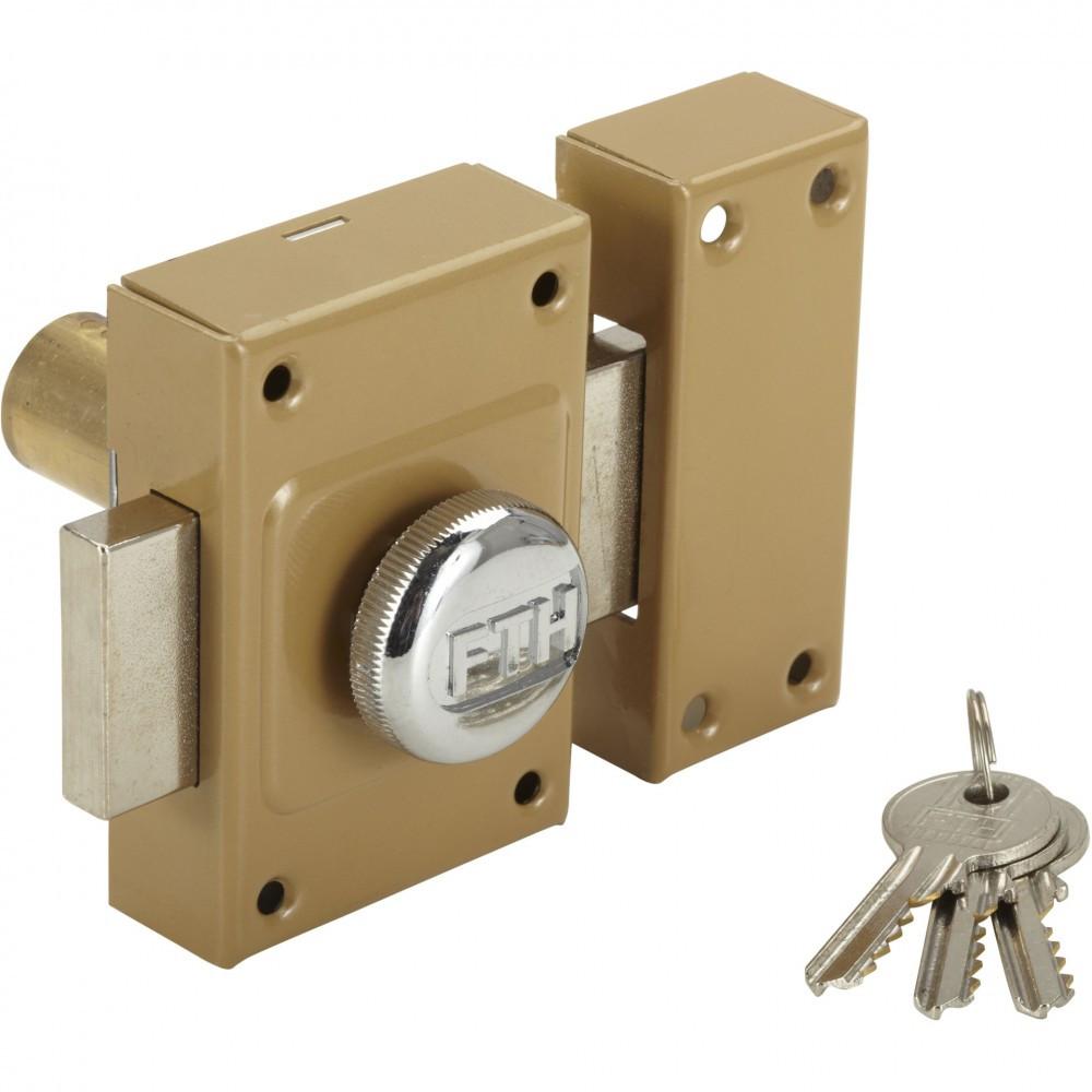 Verrou bouton / cylindre, 45 mm, THIRARD Diam. 21, 5 goupilles 911012, bronze