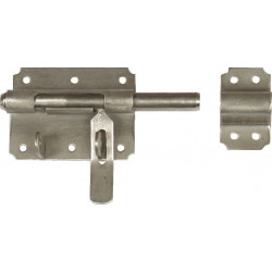 Verrou de box à cadenas ø12 mm AFBAT, acier inox brossé de marque AFBAT, référence: B6161900