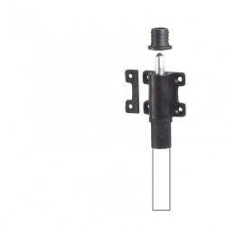 Verrou d'espagnolette composite plastifié, H.100 x L.46 x P.25 mm de marque AFBAT, référence: B6162400