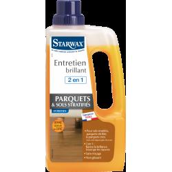 Entretien brillant 2 en 1 tous parquets et sols stratifies 1l STARWAX 1 l de marque Starwax, référence: B6181400
