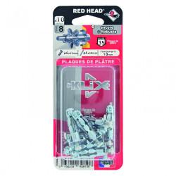 Lot de 10 chevilles et vis à expansion klix RED HEAD, Diam.4 x L.33 mm de marque Red head, référence: B6183100