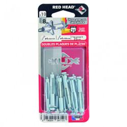 Lot de 10 chevilles et vis à expansion klix RED HEAD, Diam.4 x L.46 mm de marque Red head, référence: B6183200