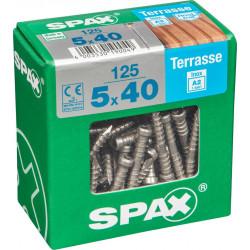 Lot de 125 vis inox tête cylindrique SPAX, Diam.5 mm x L.40 mm de marque SPAX, référence: B6189900
