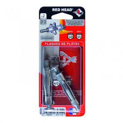 Lot de 2 chevilles et vis à expansion klix RED HEAD, Diam.8 x L.53 mm de marque Red head, référence: B6193800