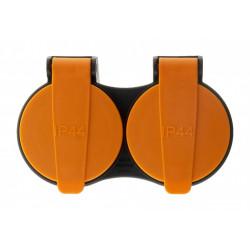 Biplite étanche, 2 prises noir INOTECH de marque INOTECH, référence: B6195700