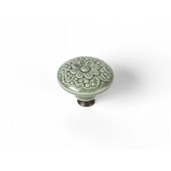 Bouton de meuble Rond porcelaine brillant vert H.27 x l.44 x P.44 mm de marque REI, référence: B6199400
