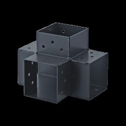 Connecteur 4D angle 90° pour poteau bois, H.9 x P.9 cm de marque SUKI, référence: B6202300