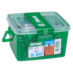 Lot de 200 vis inox tête cylindrique torx SPAX, Diam.5 mm x L.60 mm de marque SPAX, référence: B6208100