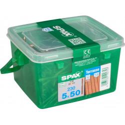 Lot de 230 vis inox étoile SPAX, Diam.5 mm x L.50 mm de marque SPAX, référence: B6208400
