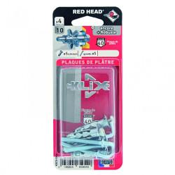 Lot de 4 chevilles et vis à expansion klix RED HEAD, Diam.5 x L.34 mm de marque Red head, référence: B6220500