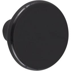Lot de 6 boutons de meuble Rond noir plastique H.27 x l.33 x P.33 mm de marque REI, référence: B6228400