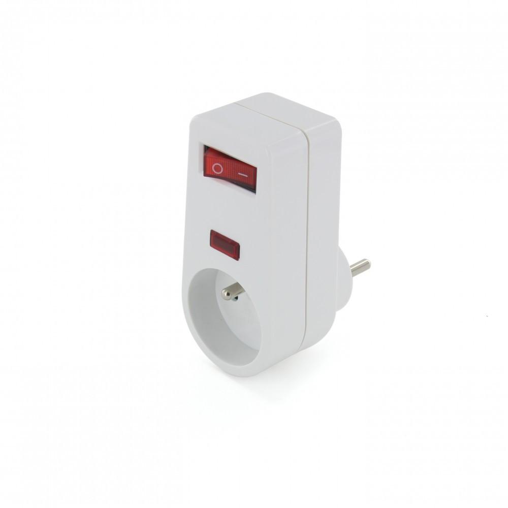 Multiprise parafoudre 1 prises sans câble CHACON, 3500 W