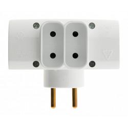 Multiprise sans fil, 4 prises blanc ZENITECH de marque ZENITECH, référence: B6232900