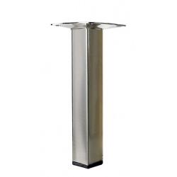 Pied meuble carré HETTICH fixe acier brossé gris de marque HETTICH, référence: B6240500