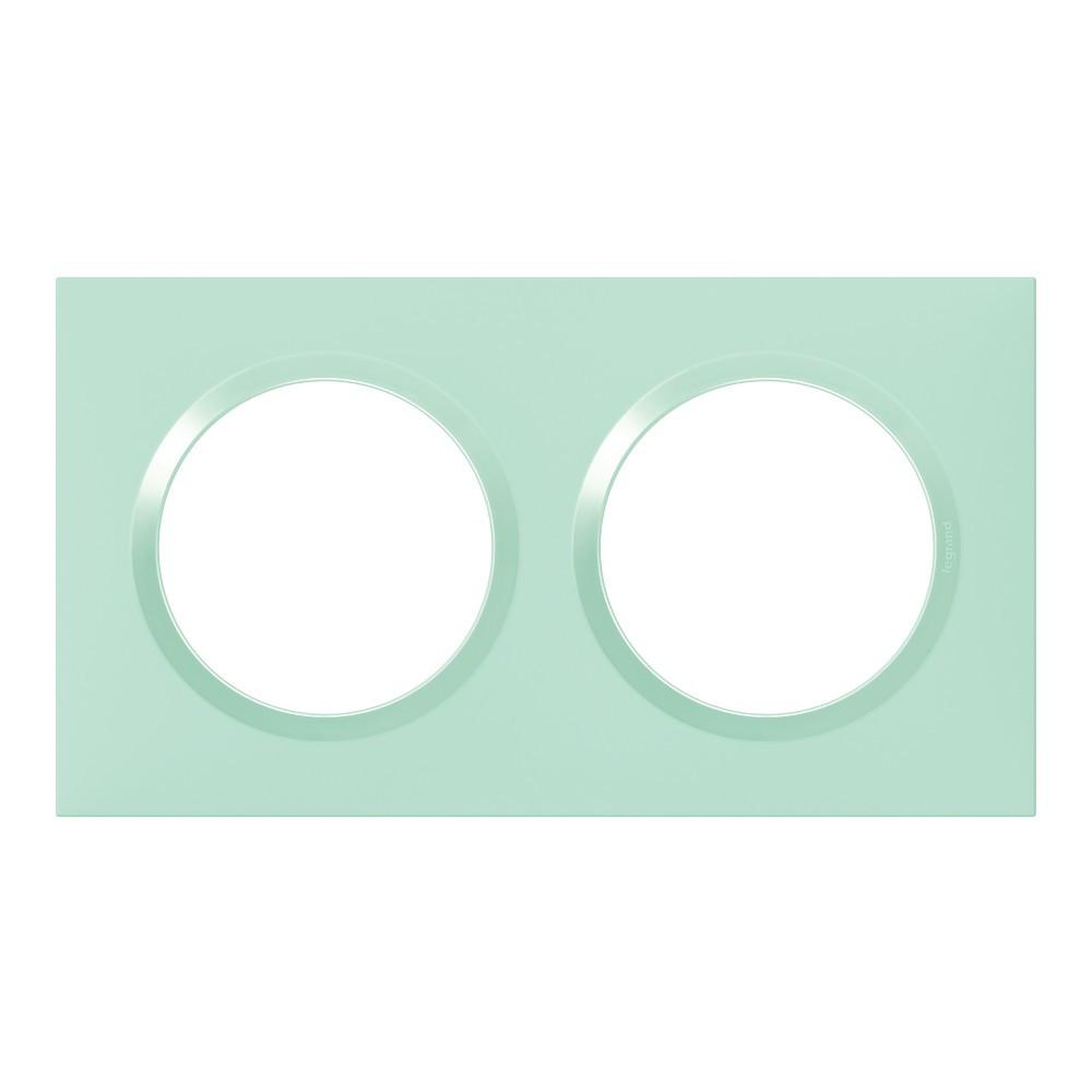 Plaque double Dooxie, LEGRAND, atoll