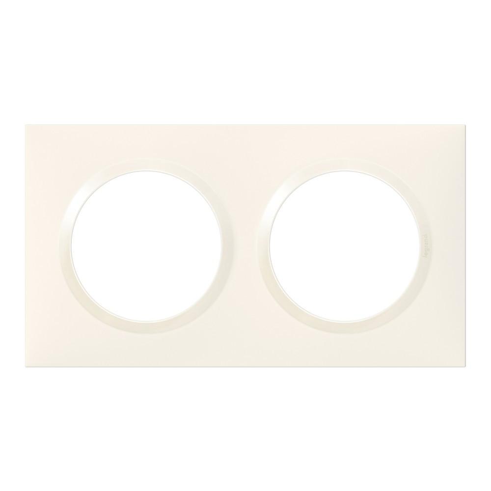 Plaque double Dooxie, LEGRAND, blanc