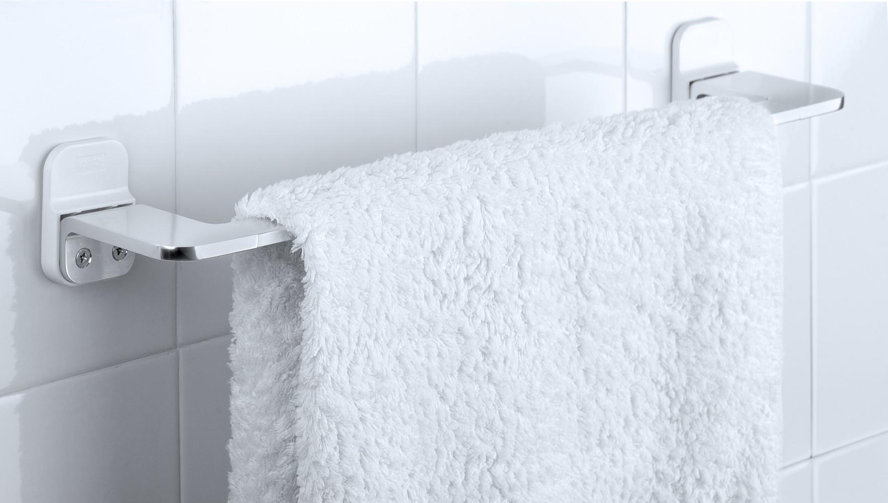 Porte-serviettes aluminium 1 barre fixe flat