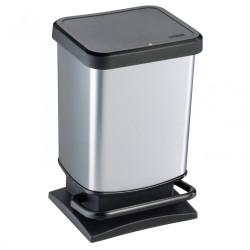 Poubelle de cuisine 20 l à pédale ROTHO polypropylène gris de marque ROTHO, référence: B6249300