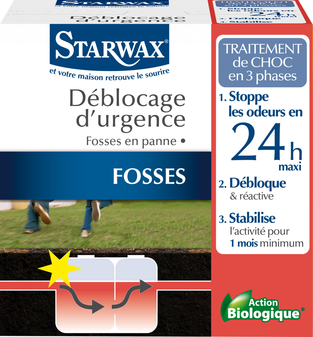 Traitement urgence fosse bloquée STARWAX 0.6 kg