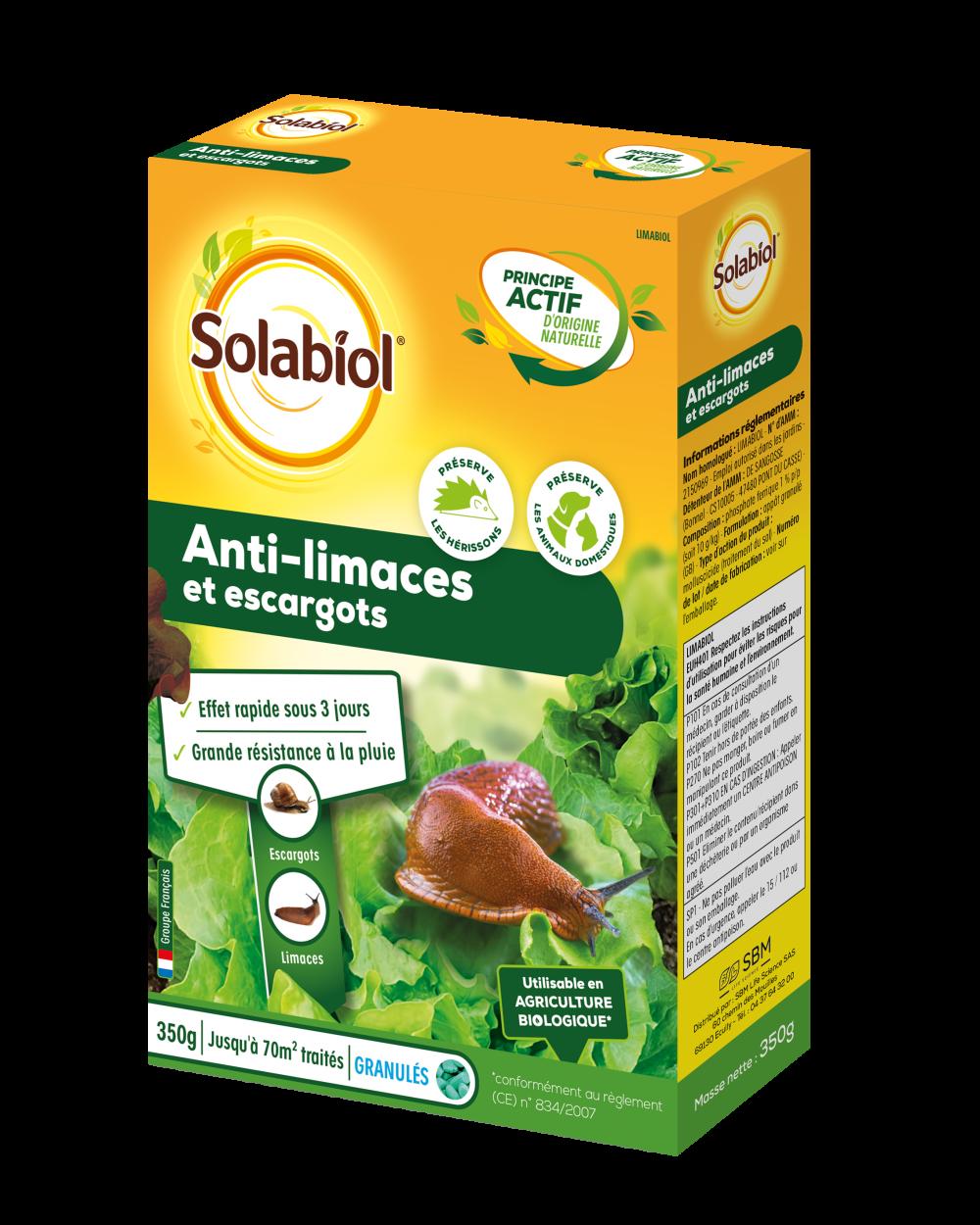 Granulés antilimaces SOLABIOL, 350g