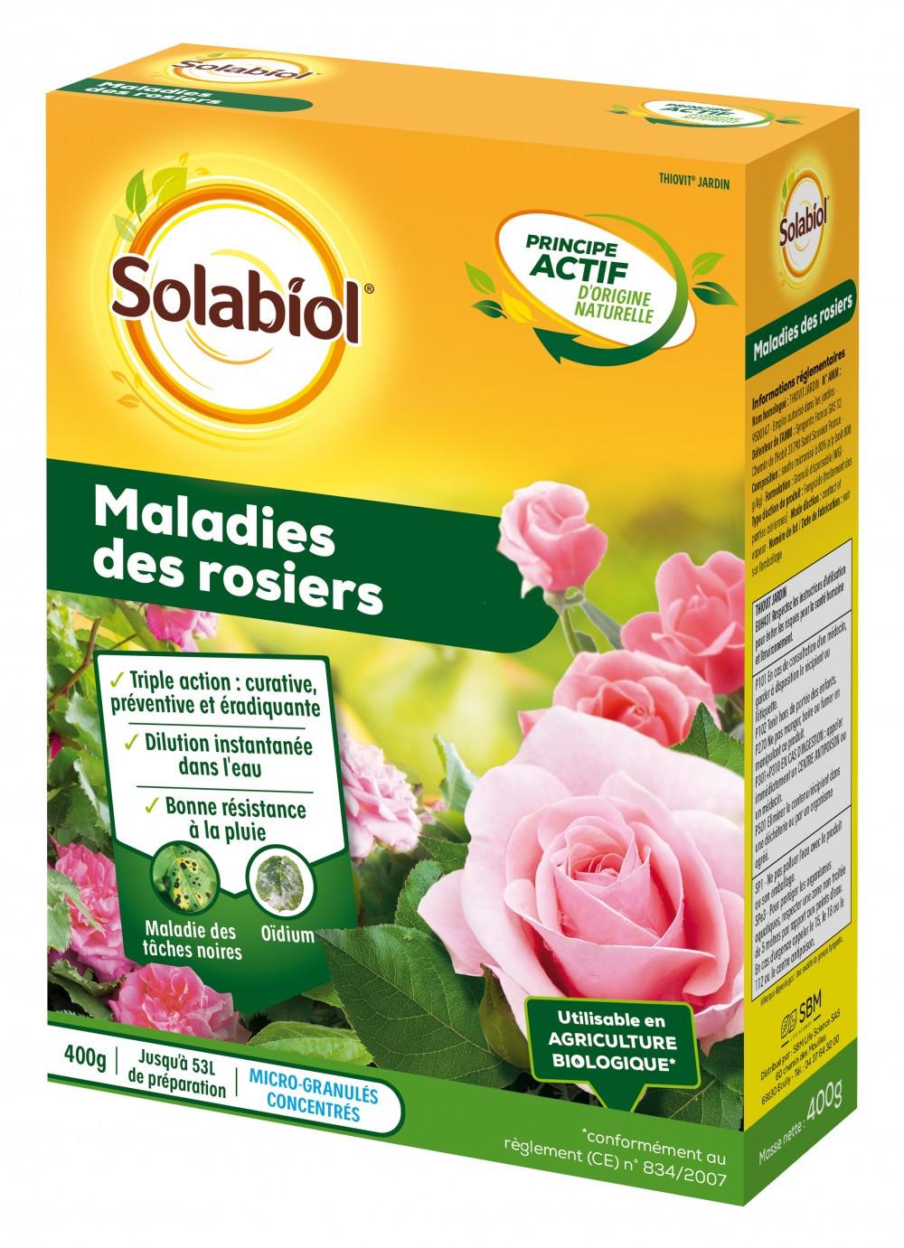 Traitement des maladies rosiers SOLABIOL, 400g