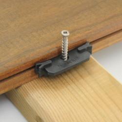 Lot de 100 clips et vis pour planches composite et résineux de marque SO GARDEN, référence: B5904700