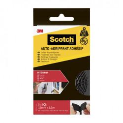 2 rubans agrippant adhésifs noir intérieur SCOTCH L.150 x l.19 mm de marque SCOTCH, référence: B5918900