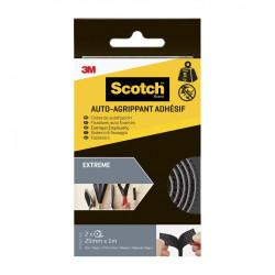 2 rubans agrippant adhésifs noir SCOTCH L.100 x l.25 mm de marque SCOTCH, référence: B5919000