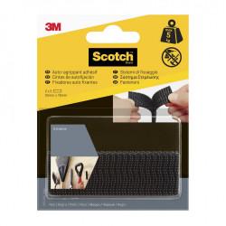 4 bandes auto-agrippantes noir SCOTCH L.7.6 x l.25 mm de marque SCOTCH, référence: B5919300