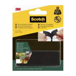 4 bandes auto-agrippantes noir SCOTCH L.7.6 x l.25 mm de marque SCOTCH, référence: B5919400