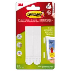 Lot de 8 languettes adhésives Tableaux COMMAND, blanc de marque COMMAND, référence: B5940200