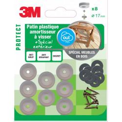 Lot de 8 patins en plastique 3M de marque 3M, référence: B5941800