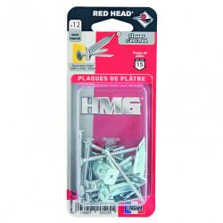 Lot de 12 chevilles et vis à clouer RED HEAD, Diam.4 x L.50 mm de marque Red head, référence: B6203500
