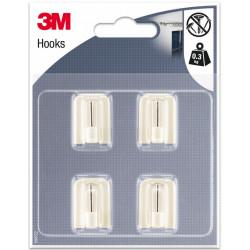 Lot de 4 crochets adhésif 3M, blanc de marque 3M, référence: B6220900
