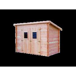 Abri DALMAT madriers Douglas 20 mm sans plancher, toit mono-pente 5,62 m² de marque HABRITA, référence: J4613100