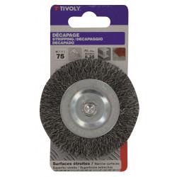 Brosse circulaire perceuse pour métal TIVOLY, Diam.75 mm de marque TIVOLY, référence: B5757100