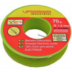 Bobine étain électronique 1 mm, 200 g. ROTHENBERGER de marque ROTHENBERGER, référence: B6262900