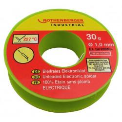 Bobine étain électronique 1 mm, 30 g. ROTHENBERGER de marque ROTHENBERGER, référence: B6263000