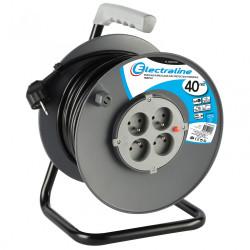 Enrouleur de câble électrique bricolage avec terre L. 40 m ho5vvf 3g1.5 de marque ELECTRALINE, référence: B6274300