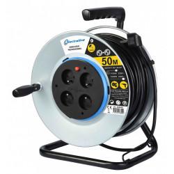 Enrouleur de câble électrique bricolage avec terre L. 50 m ho5vvf 3g1.5 de marque ELECTRALINE, référence: B6274400