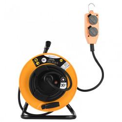 Enrouleur de câble électrique chantier avec terre L. 30 m ho7rnf 3g1.5 de marque ELECTRALINE, référence: B6274600