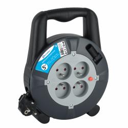 Enrouleur de câble électrique ménager avec terre L. 5 m ho5vvf 3g1.5 de marque ELECTRALINE, référence: B6274900