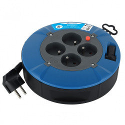 Enrouleur de câble électrique ménager plat avec terre L. 5 m ho5vvf 3g1 de marque ELECTRALINE, référence: B6275000